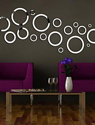 Shapes Wall Stickers 3D Wall Stickers Mirror Wall Stickers Decorative Wall Stickers,Glass Material Home Decoration Wall Decal