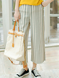 Sign striped wide leg pants