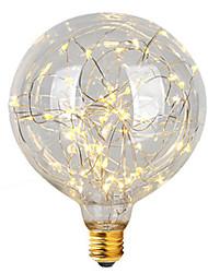 2w e26 / e27 ampoules à fil filé g95 47 intégrées led 300 lm chaud blanc décoratif ac 220-240 v 1 pcs