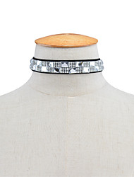 Women's Choker Necklaces Rhinestone Rhinestone Square Euramerican Fashion Personalized Jewelry Daily Casual 1pc