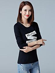 2017 primavera e Outono novas mulheres&# 39; s t-shirt camiseta coreano slim bottoming camisa de algodão de manga comprida t-shirt
