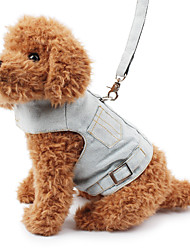 Dog Harness Safety Solid Denim