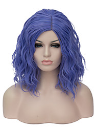 Mujer Pelucas sintéticas Corto Azul Peluca natural Peluca de fiesta Peluca de Halloween Las pelucas del traje