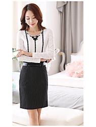Real shot 2017 hitz корейские женщины тонкая рубашка кружева женская рубашка с длинными рукавами рубашки