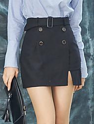 знак 2017 весной новые корейские торговые значительные долговязые талии юбки нерегулярного пакета бедро брюки шорты