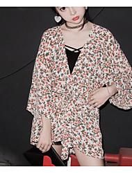 Modelos reais do verão do tiro bf soltas jardas grandes luva longa proteção do sol roupa fino namoradas do revestimento do quimono