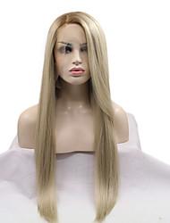2017 sylvia perruque mélange synthétique avant de dentelle perruque libre résistant chaleur blond perruques synthétiques net