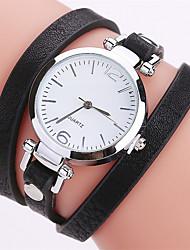 Женские Модные часы Часы-браслет / Кварцевый PU Группа Cool Повседневная Черный Белый Синий Красный Коричневый Розовый Хаки