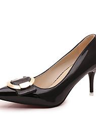 Damen-High Heels-Kleid Lässig-PU-Kitten Heel-Absatz-Komfort-Schwarz Hellgrau Rosa