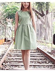 signer au printemps et en été 2017 version coréenne de cultiver jupe robe col rond coton sauvage manches veste vent collège féminin