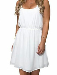 Modelos explosão aliexpress ebay vestido branco sem mangas de volta bandage
