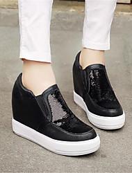 Damen Flache Schuhe Komfort PU Winter Normal Komfort Flacher Absatz Gold Schwarz Silber Flach