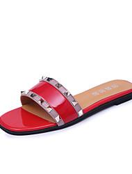Women's Slippers & Flip-Flops Summer Mary Jane Leatherette Casual Flat Heel Beading Walking