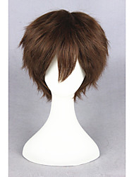 Short brown super maître 12inch anime cosplay cheveux perruque cs-223c
