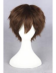 Curto marrom super mestre sintética 12inch anime cosplay cabelo peruca cs-223c