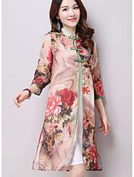 assinar 2016 Outono nova high-end chinese cheongsam melhorou a impressão xale cardigan