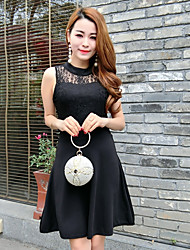 Знак богиня 2017 новых пользовательских шить кружева талии большие качели платье было тонкое тело