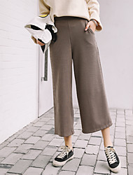 Model real shot 2016 new winter high waist wide leg pants were thin pantyhose vintage straight jeans tide