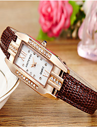 Women's Fashion Watch Quartz Leather Band Casual Brown Brown