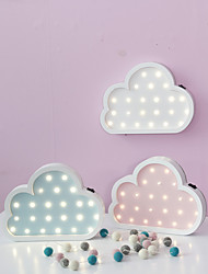 Nordic Style LED Night Light Table Lamp Wall Lamp Wall Decoration LED Ornament Children Room Decoration  Color  Cloud Cartoon Lamp