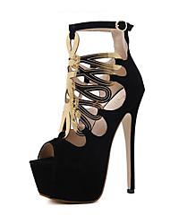 Mujer-Tacón Stiletto-Confort Innovador Gladiador Zapatos del club-Sandalias-Boda Exterior Oficina y Trabajo Vestido Informal Deporte
