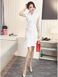 Real shot oblique V-neck cardigan flounced pleated dress Slim fishtail skirt female