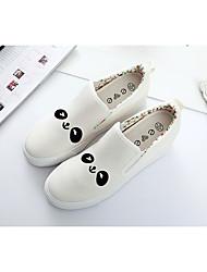 Damen-Loafers & Slip-Ons-Lässig-LeinwandKomfort-Weiß