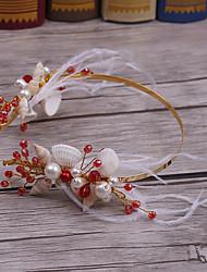 Перья сплава имитация жемчужина головной убор-свадьба специальный случай случайные повязки 1 шт