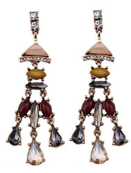 Women's Drop Earrings Jewelry Fashion Vintage Euramerican Gemstone Chrome Jewelry Jewelry For Wedding Party Special Occasion Gift