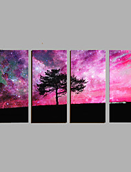Hand-Painted Modern Landscape Oil Painting Four Panel Canvas Oil Painting Multi Split Oil Painting
