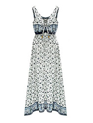 Spot Europe station 2016 summer new long section of beach dress bohemian print dress