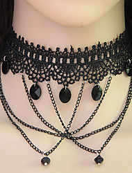 Choker Necklaces Alloy Lace Fashion Vintage Teardrop Jewelry Women's Party Daily 1pc