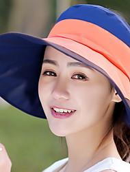 Feminino Casual Poliéster Verão Chapéu de sol,Listrado
