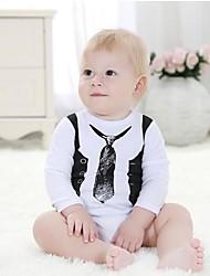 Une-Pièce bébé Décontracté / Quotidien Habillées Vacances Imprimé Coton Toutes les Saisons Printemps Automne Manches longues
