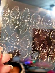 2pcs transparente dupla face fitas adesivas adesivos unha arte falso prego dicas extensão ferramentas