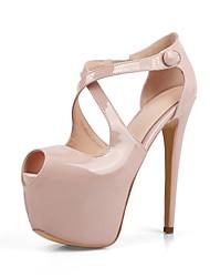 sapatos clube queda saltos de verão das mulheres gladiator conforto casamento escritório pu&festa de carreira&vestido de noite