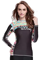 SBART® Women's Wetsuit Top Sunscreen Elastane Terylene Diving Suit Long Sleeve Tops-Swimming Spring Summer Fall/Autumn WinterFashion