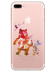Para iPhone X iPhone 8 Carcasa Funda Transparente Diseños Cubierta Trasera Funda Caricatura Suave TPU para Apple iPhone X iPhone 8 Plus