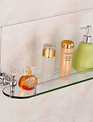 Bathroom Accessory Set / ChromeBrass Glass