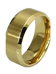 New Korean Stainless Steel 8mm Matte Flat Rings for Women Gold Rose Gold & Sliver Plated Wedding Rings Men Ring R-004
