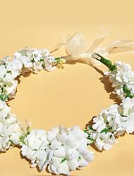Satin Casque-Mariage Extérieur Serre-tête Fleurs Couronnes 1 Pièce
