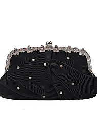 L.WEST Women's Luxury High-grade Fold Diamond Evening Bag