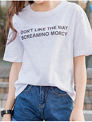 firmare 2017 nuove lettere coreane stampato camicia allentata a maniche corte t-shirt che basa la camicia afflusso di studenti di sesso