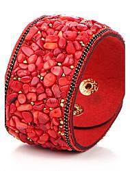 Bracelets en cuir Cuir Autres Vintage Bohême Hip-Hop Bijoux 1pc Noir Violet Rouge Bleu