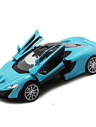 Race Car Pull Back Vehicles Car Toys 1:32 Metal Navy Blue Black Green Yellow Model & Building Toy