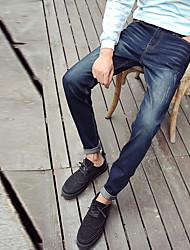 Men's jeans men autumn stretch pants feet trousers male adolescents Korean Slim pants trousers 610