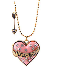 Women's Pendant Necklaces Crystal Heart Chrome Unique Design Love Jewelry For Congratulations Thank You Gift 1pc