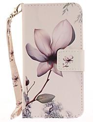 Для Чехлы панели Бумажник для карт Кошелек со стендом Флип С узором Чехол Кейс для Цветы Твердый Искусственная кожа для AppleiPhone 7