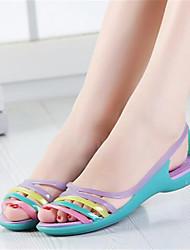 Damen-Sandalen-Lässig-PUKomfort-Rot Blau Leicht Grün