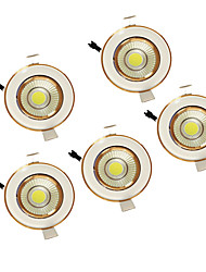 5W COB 220-240V Warm White LED Down Light Recessed Ceiling 5PCS